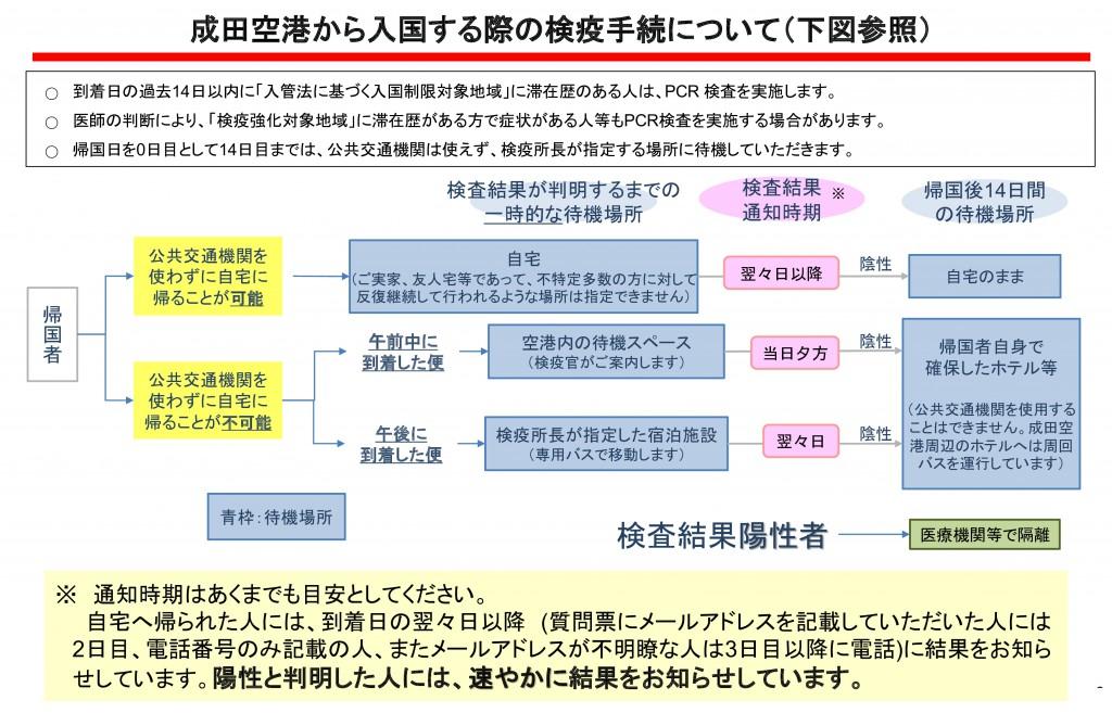 成田空港 検疫フロー